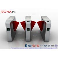 China 3 Lanes Swing Barrier Gate Card Collector For Biometric Access Control With Face Recognition System wholesale