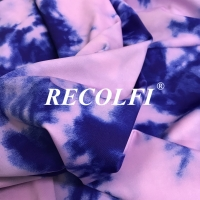 Buy cheap Print Tie Dyed Effect On Repreve Moisture Wicking Activewear Fabric from wholesalers