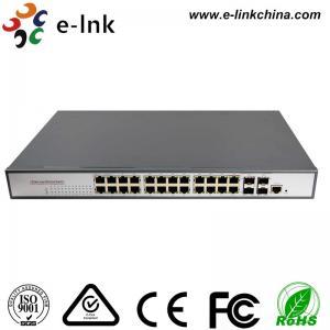 China Industrial  Ethernet POE Switch:  24-port 10/100/1000Base-T + 2-port 1000Base-SFP/RJ45 Network Managed wholesale