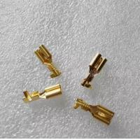 Buy cheap 6.3 male and female terminal plug spring / connector / cold terminal copper / hard sheath thickening line product