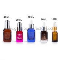 Buy cheap 10ml,20ml,40ml Colored Square Glass Droppers Bottles For Serum from wholesalers