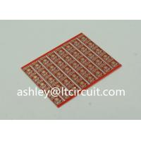 China Gold Plated Red Double Sided PCB Semi Holes Side Rails White Lenged wholesale