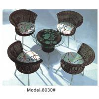 China 4 Armless chairs with wicker dining set -8030 wholesale