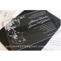 Quality IC (12) in sales customized acrylic invitation for sale