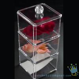 China clear acrylic cosmetics organizer wholesale