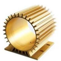 China Golden Anodizing Hollow Extrusion Heat Sink Round Flat Square wholesale