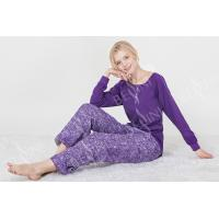 China Fashionable Violet Womens Pyjama Sets Long Sleeve Top Australian Design wholesale