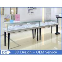 China Simple Wood Glass Jewelry Display Cases With Lock For Retail Store wholesale