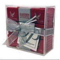China Light weight Acrylic Display Case / Gift Case With Lid 10cm X 10cm X 4cm wholesale