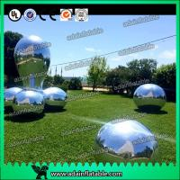 China Silver Fabric Inflatable Mirror Ball Fire - Retardant For Fashion Show Decoration wholesale