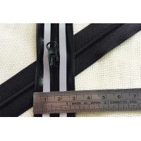 China Black Colour Wide Tape Water proof  3#  Reflective Zipper For Outdoor wholesale
