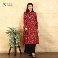 China Red Prints Embroidered Chinese Style Dress wholesale