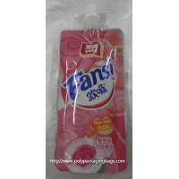 China fruit shape packaging pouch reseable stand up pouch packaging bags with spout juice drink plastic spout pouch wholesale