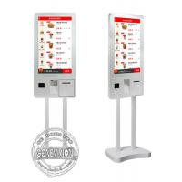 China 32inch Windows10 Ordering Machine Kiosk, PCPA Film Touch Screen Kiosk with Thermal Printer, QR code Scanner and POS wholesale