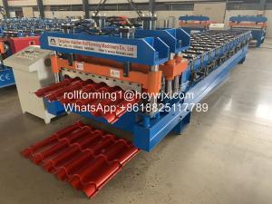 China 2m/Min PLC Control Antique Glazed Tile Roll Forming Machine wholesale