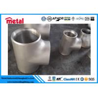 Stainless Hastelloy C276 Pipe Fittings , Seamless Stainless Steel Equal Tee