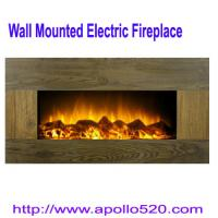 China 33-inch Wooden Panel Wall Mount Electric Fireplace Heater wholesale