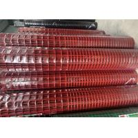 China 2.2 MM Red Color PVC Coated Welded Wire Mesh 1'' X 1'' Hole Q195 Material wholesale