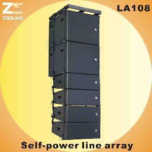"China La108, 8"" Compact Self-Power Line Array Loudspeaker wholesale"