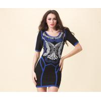 China Short Sleeve Bandage Dress Sexy Club Wear , Polyester Ladies Casual Dresses on sale