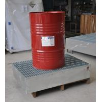 Quality Steel Spill Containment Pallets , Oil Drum Spill Pallet For IBC Drum for sale