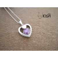 China Fashion Jewelry 925 Sterling Silver Gemstone Pendant with Zircon W-VB948 wholesale