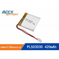 China 503030 3.7V 420mAh Small battery Lipo battery lithium polymer battery for digital devices,bluetooth speaker wholesale