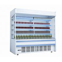 China White Self Contained Open Display Fridge For Drinks / Milk 2m Large Capacity wholesale