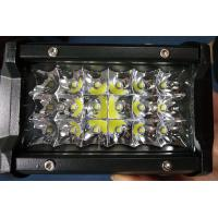 China 6 Inch 54W  Led Work Lights 12v Trip Row 6500k Multiple Colors wholesale