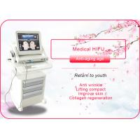 Buy cheap Portable / Vertical HIFU Machine Anti Wrinkle / Face Lift Machine 110-240V 50/60Hz product