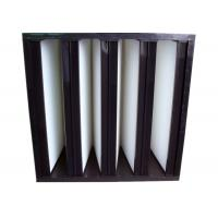 China Secondary V Cell Industrial Air Filters Fiberglass Air Filter With ABS Plastic Frame wholesale