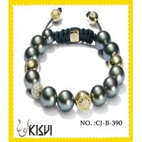 China High quality guarantee  CZ crystal & alloy 10mm making beaded bracelets wholesale