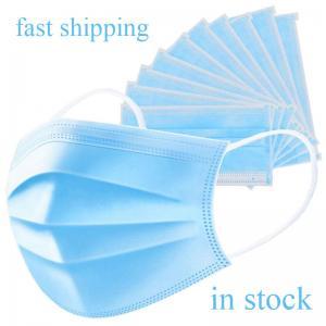 China Anti Virus Disposable face masks, 3 Layers Non-Woven fabric Mouth Masks wholesale