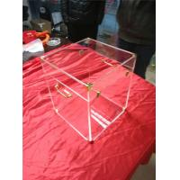 China High Hardness Large Clear Acrylic Trunk For Storage Boxes With Lock wholesale