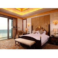 China Wooden luxury Hotel Bedroom Furniture With SGS E1 MDF Board For Sale wholesale