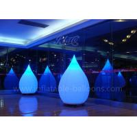 China 1.5m Lighting Inflatable Balloon Water Drop 210D Polyester Cloth For Decoration wholesale