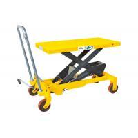 China Heavy Weight Manual Lift Table , Materials Handling Small Hydraulic Lift Table wholesale