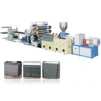 Decorative Single Screw Plastic Extrusion Machine For PVC Faux Marble Board