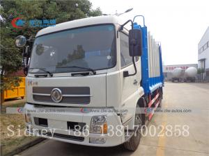 China Dongfeng Tianjin 4X2 12cbm 14cbm Garbage Compactor Truck Compression garbage truck wholesale