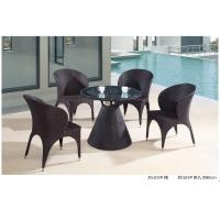 China modern pe rattan boite table chair outdoor furniture set wholesale