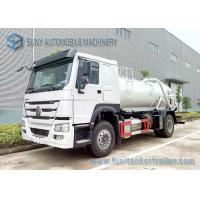 Buy cheap SINOTRUK HOWO Sewage Suction Tanker 4X2 Truck 12000L Vacuum Tank from wholesalers