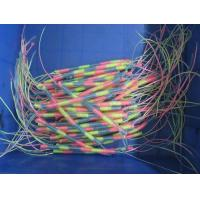 China Rainbow color slim durable plastic spring string coil cords without end just straight line wholesale