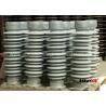 China High Voltage Ceramic Insulators UNC Pitch Grey / Brown / White Color wholesale