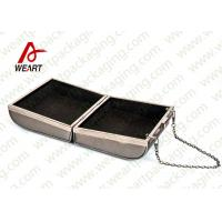 Grey Cardboard Gift Contanier Customized Paper Box Flat Tape Rope