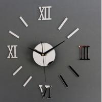 DIY 3D Roman Numbers Mirror Style Multi-Color Wall Clock Home Decor Mirror Wall