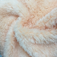 160CM width Polyester Dyed Fabric Double Plush Polyester Fabric
