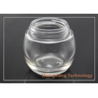 Quality 100ml clear spherical glass bottle with screw neck , D73.5mm×H67mm for sale