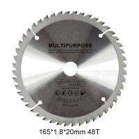China Multipurpose TCT Woodworking Circular Saw Blade 165mm 48 Teeth For Cutting Metal wholesale