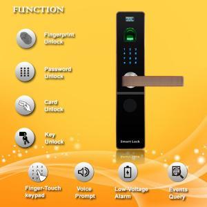 China Contactless Fingerprint Door Locks For Your Home , Bluetooth Entry Door Lock wholesale