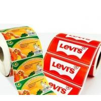 China OEM Glossy Food Product Sticker / Label Roll Waterproof With Logo Printing wholesale